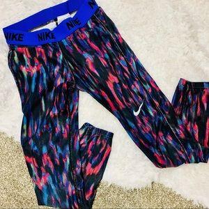 {NIKE} Pro Multi Colored Leggings Training Pants